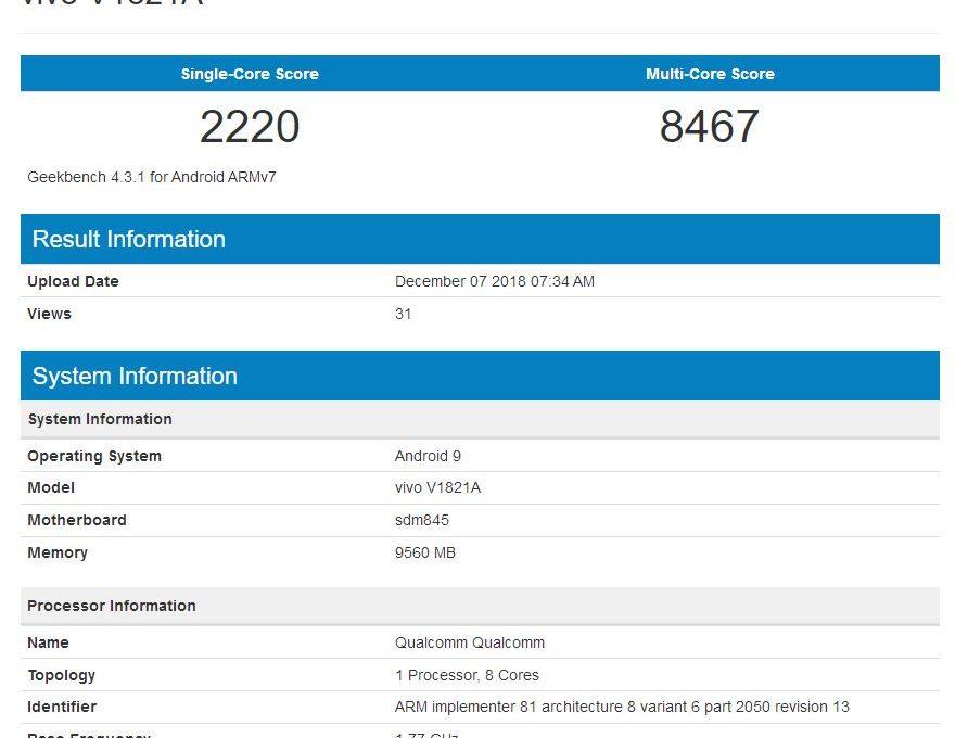 Результаты тестирования Vivo Nex Dual Screen