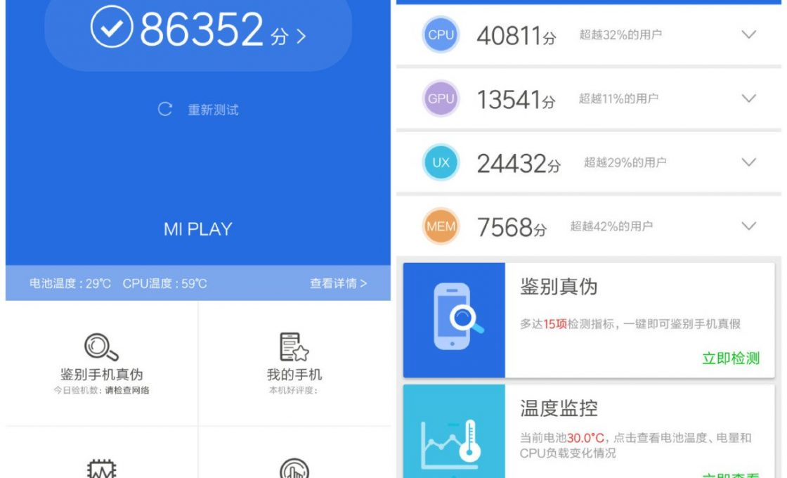 Результаты тестирования Xiaomi Mi Play