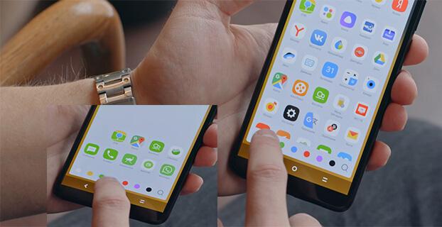 Группировка приложений в смартфоне