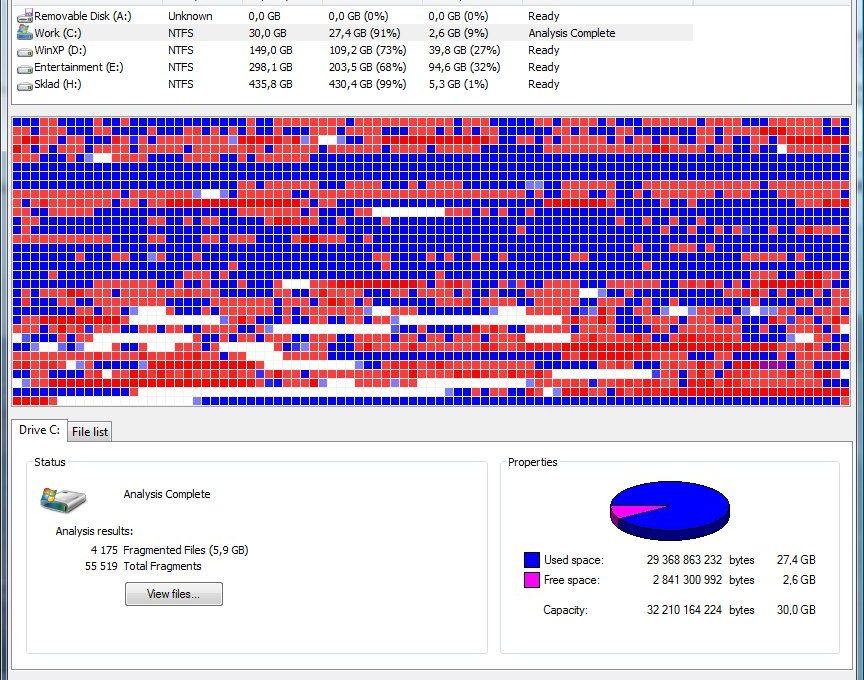 Программа для дефрагментации диска Defraggler