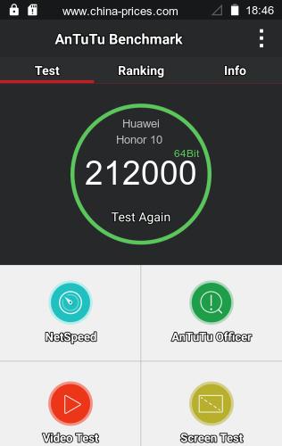 Тест AnTuTu Huawei Honor 10