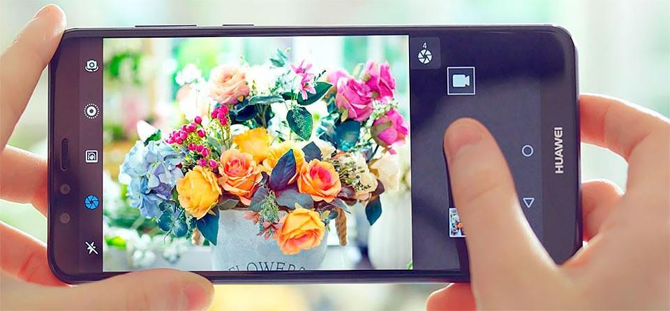 Фото цветов на телефоне Huawei Y9