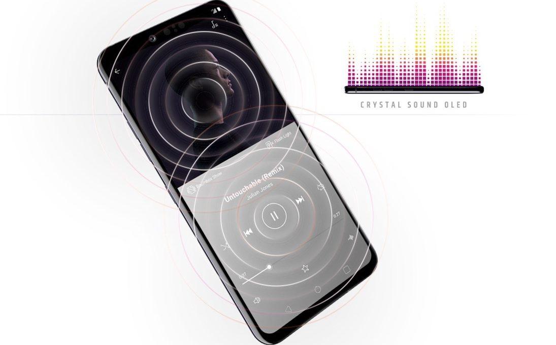 Использование дисплея LG G8 в качестве звуковой мембраны
