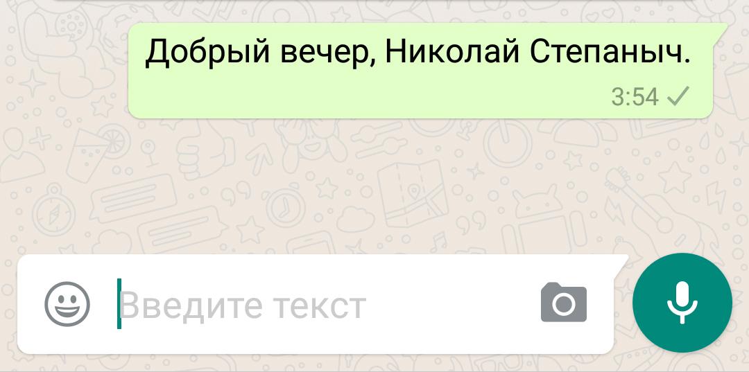 Серая галочка в WhatsApp