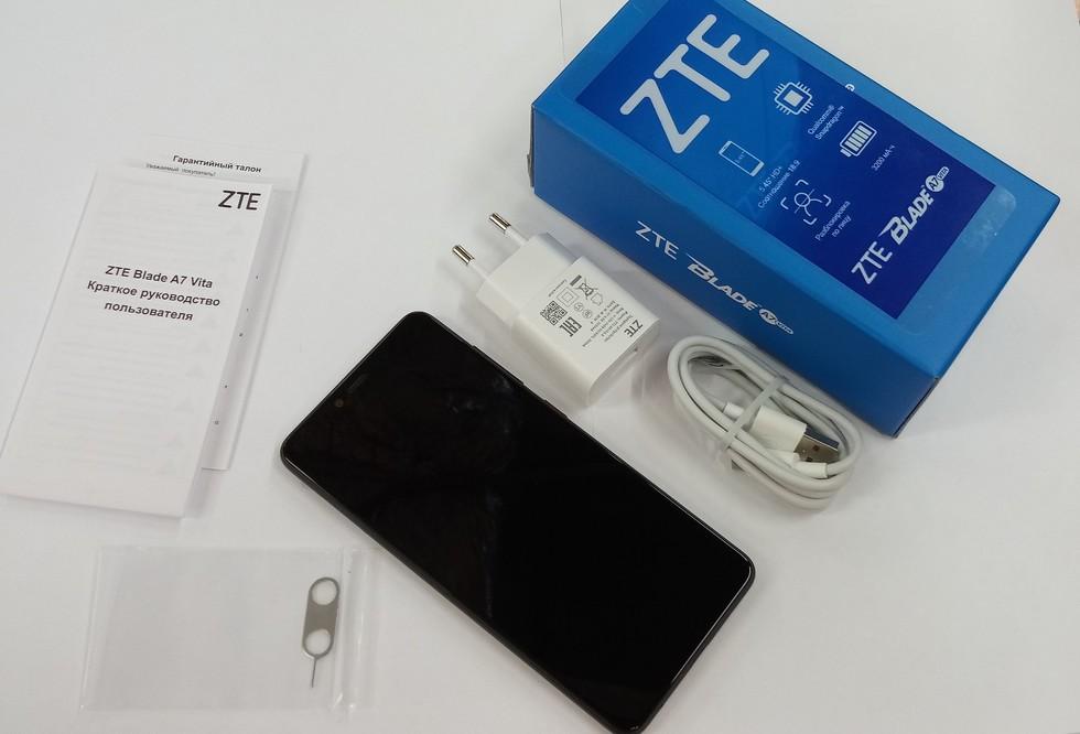 Комплектация смартфона ZTE Blade A7