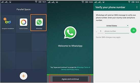 Установка второго WhatsApp