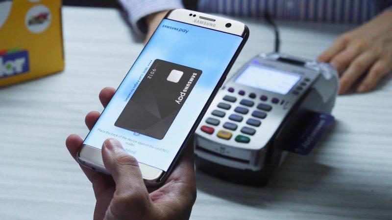 Оплата покупок через Samsung Pay