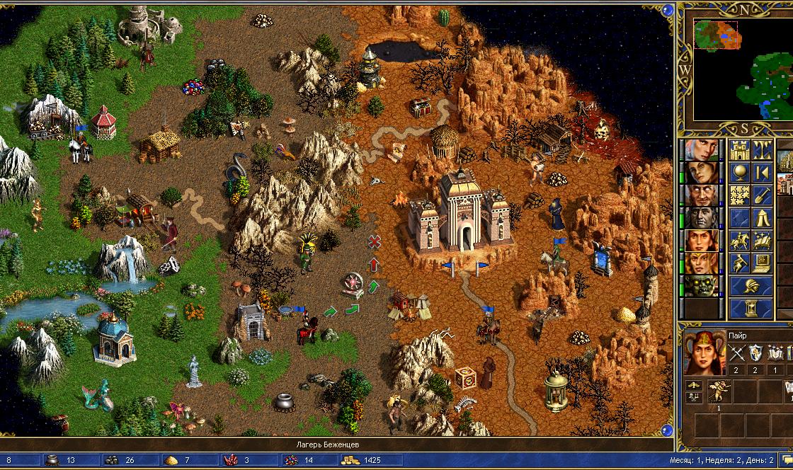 Кадр из игры Герои Меча и Магии 3