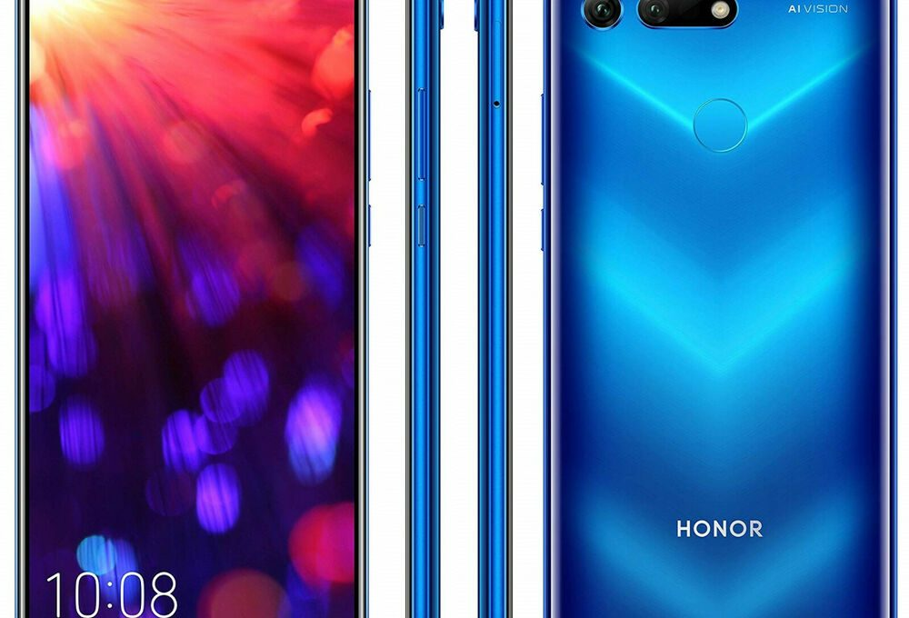 Смартфон Honor View 20: вид спереди, сбоку и сзади