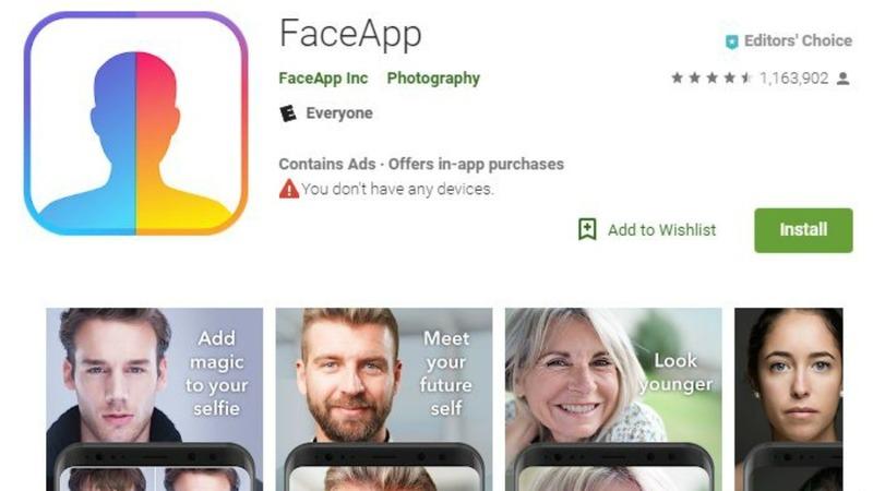 Безопасность приложения FaceApp под сомнением
