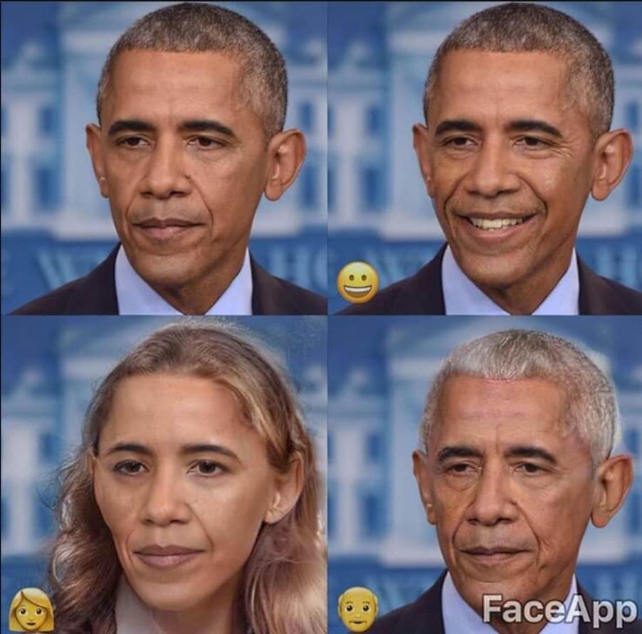 Барак Обама в FaceApp