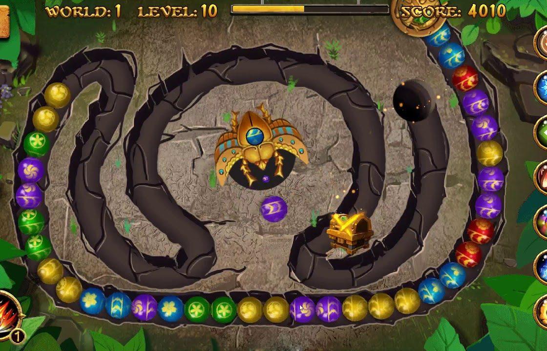 Игровой процесс в Jungle Marble Blast