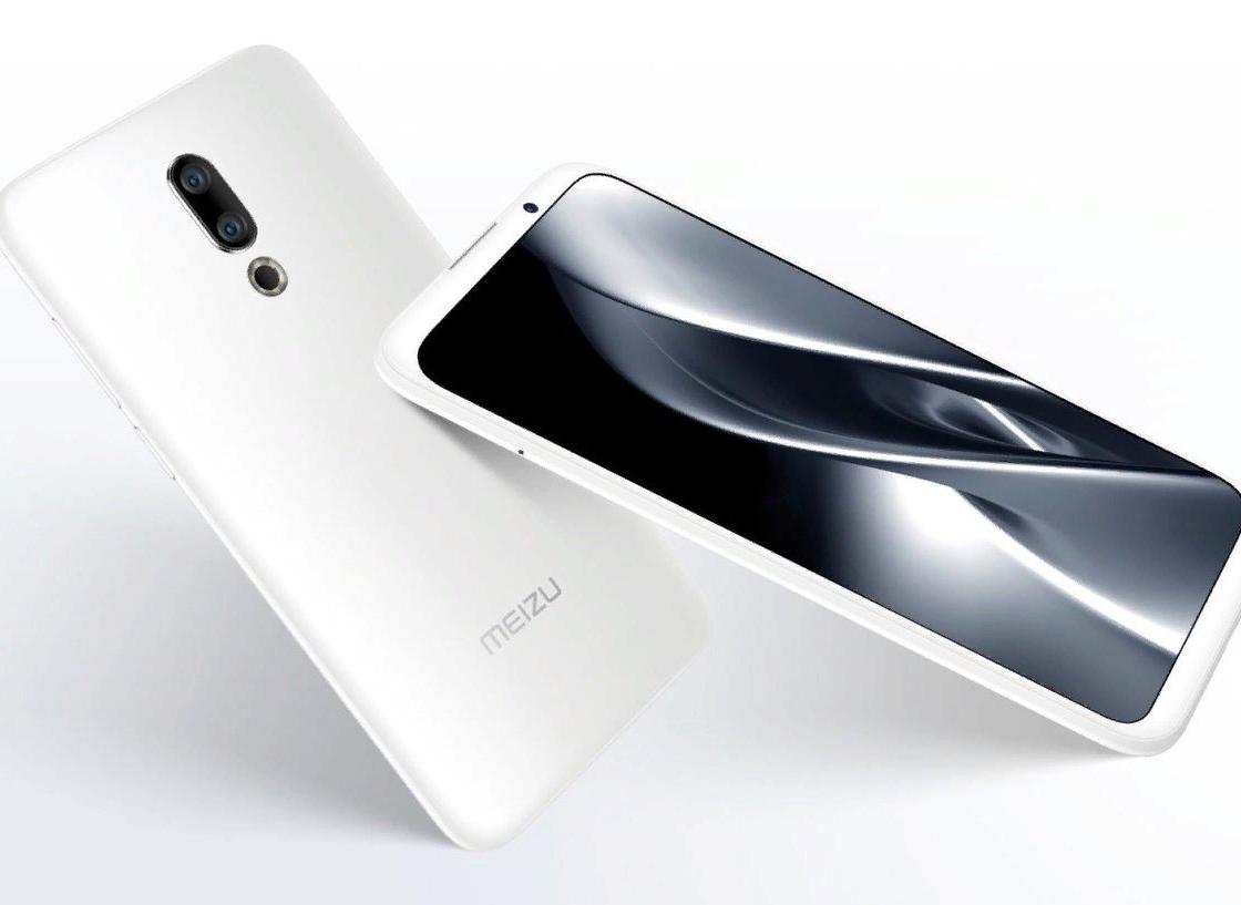 Meizu 16X в белом корпусе — вид спереди и сзади