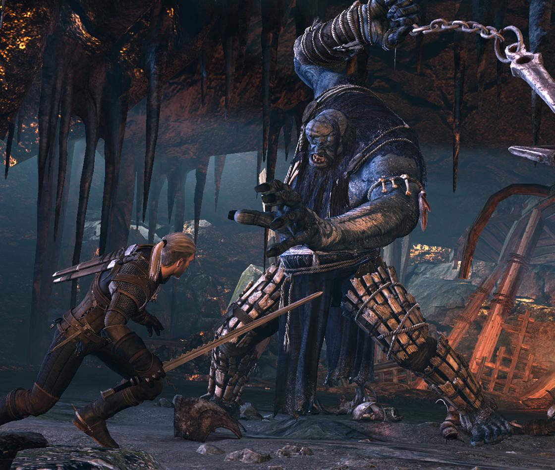 Сцена боя в Witcher 3: Wild Hunt