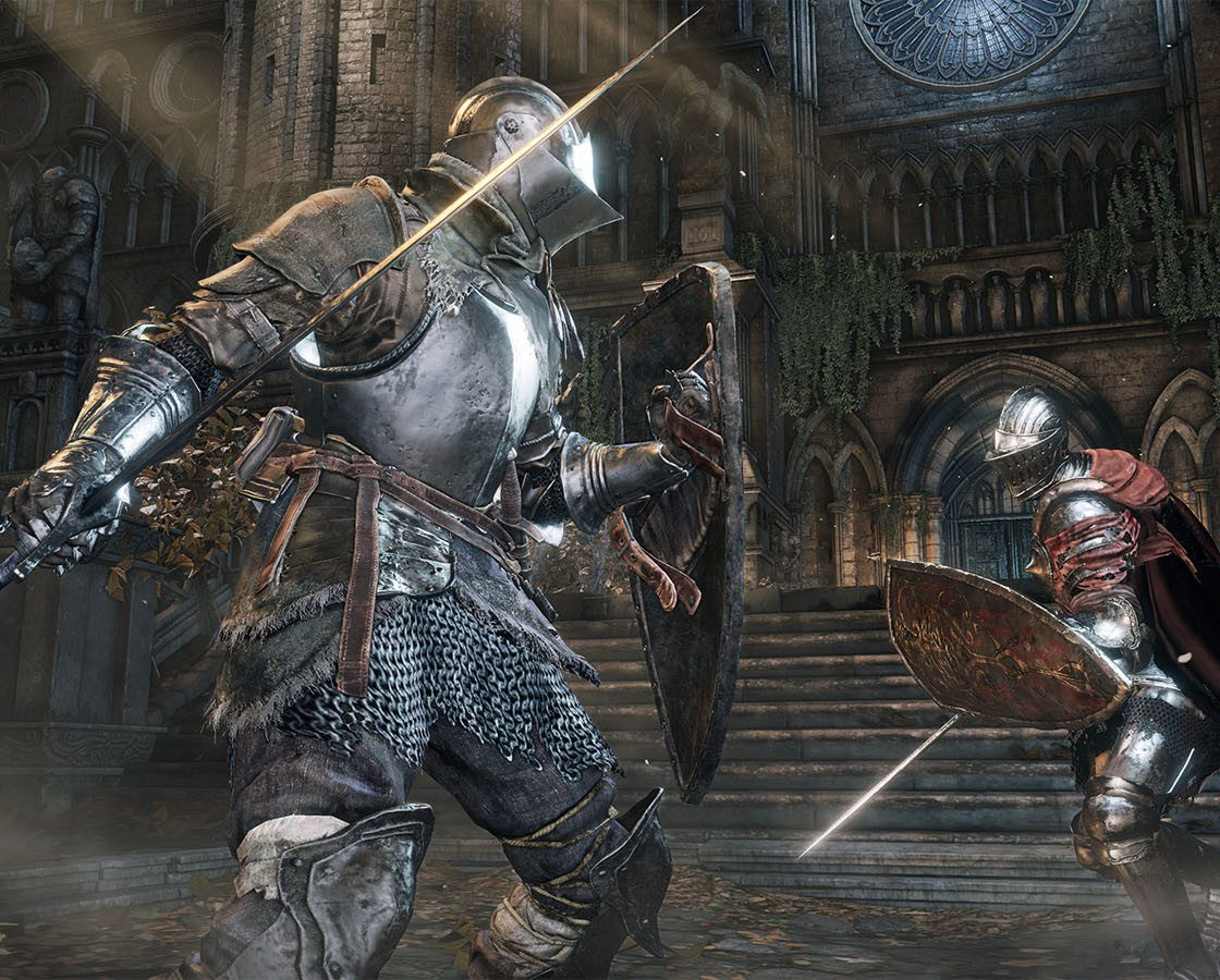Игровая сцена в Dark Souls III