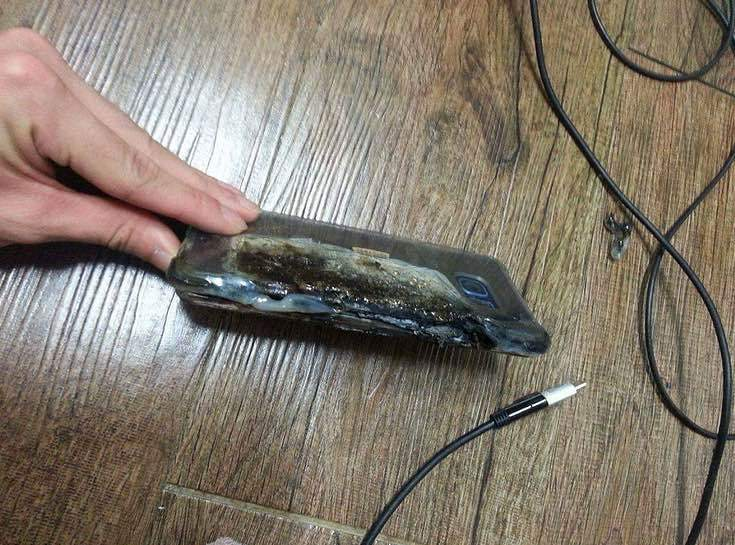 Сгоревший Samsung Galaxy Note 7