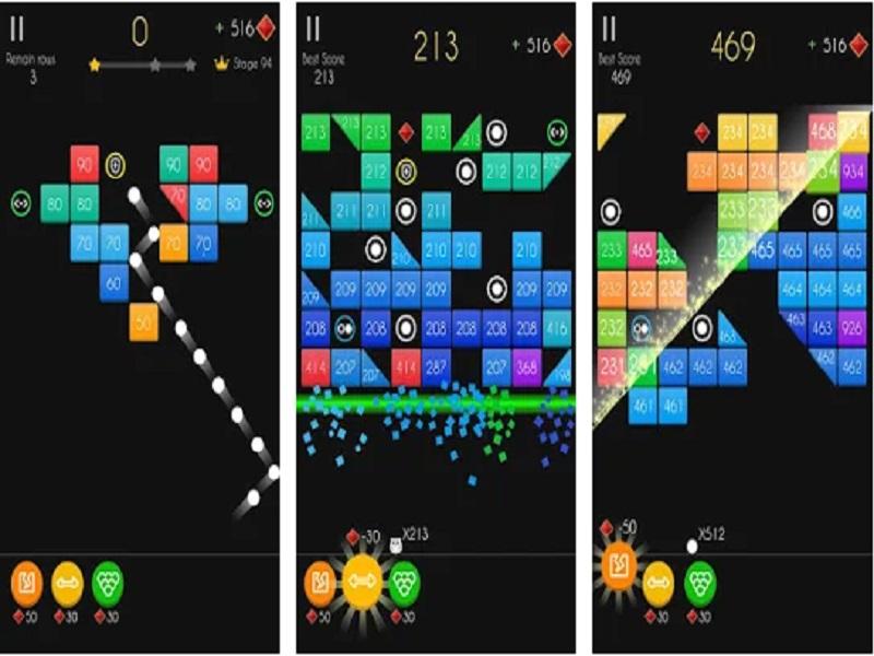 Игровой процесс в Balls Bricks Breaker 2