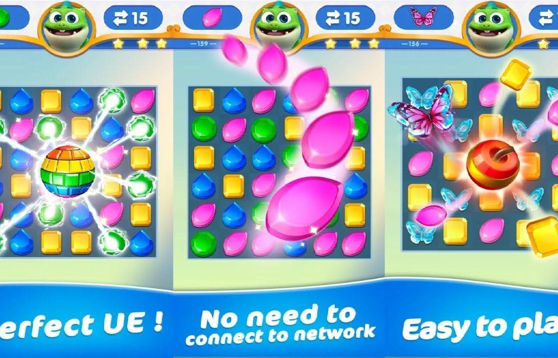 Игровой процесс в Dragondodo — Jewel Blast