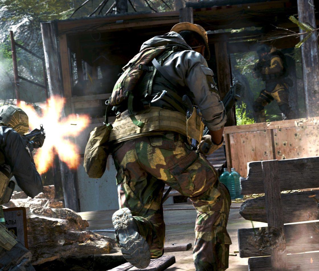 Игровая сцена в Call of Duty: Modern Warfare