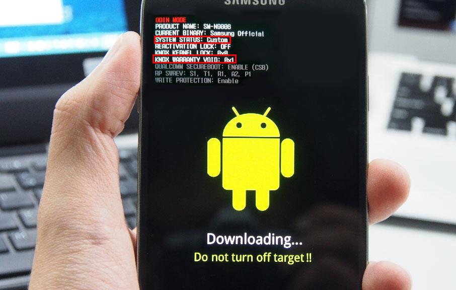 Режим загрузки на телефоне Samsung