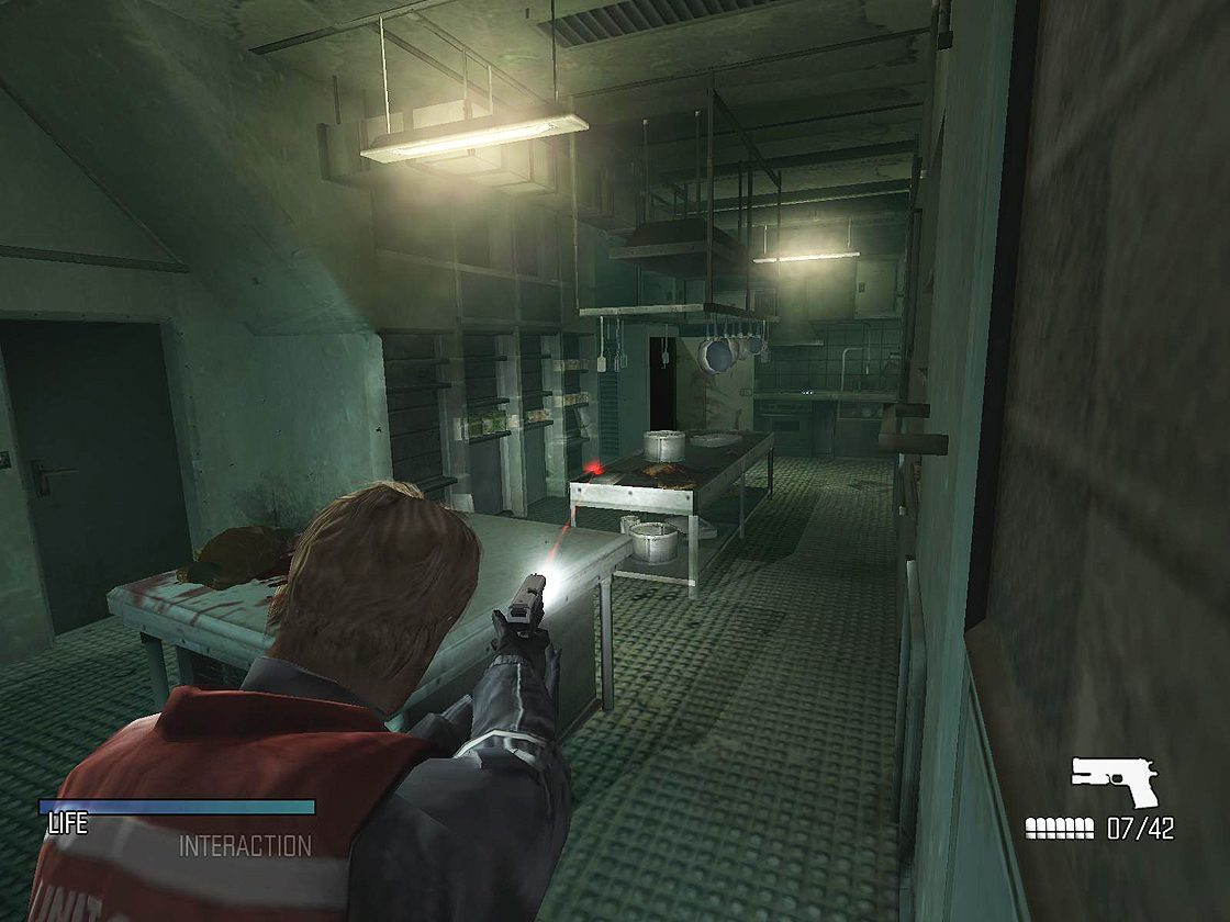 Игровая сцена в Cold Fear