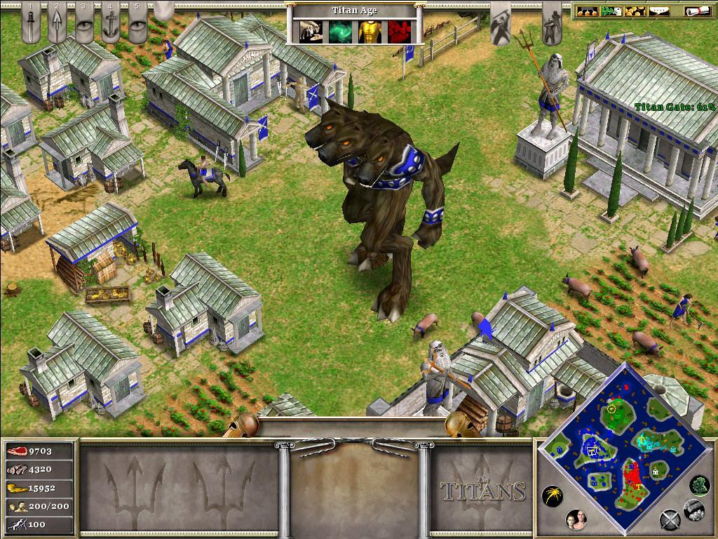 Игровая сцена в Age of Mythology