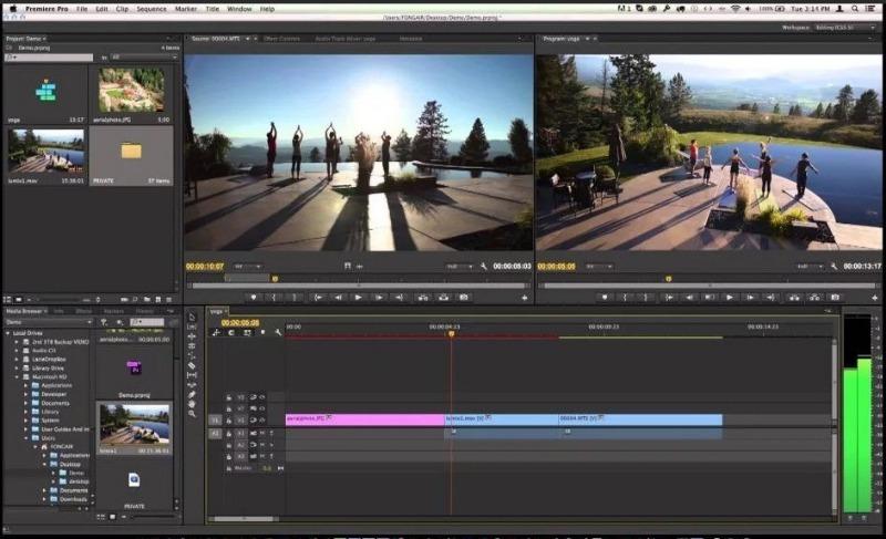 Видеоредактор Adobe Premiere Pro